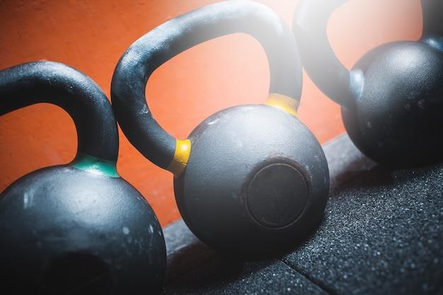 Kettlebell. gym.