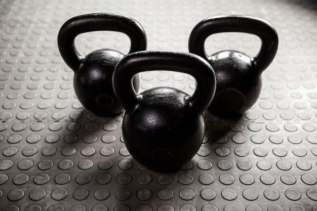 Kettlebells at the crossfit gym