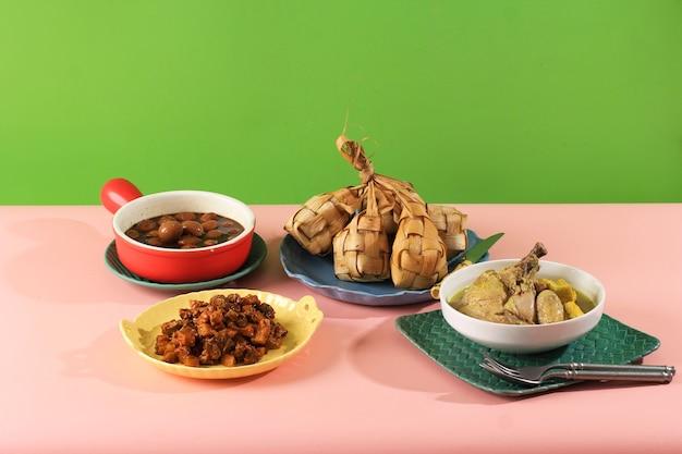 Набор «кетупат лебаран», полный пакет меню во время лебаранского праздника ид, создание красочного лебаранского меню