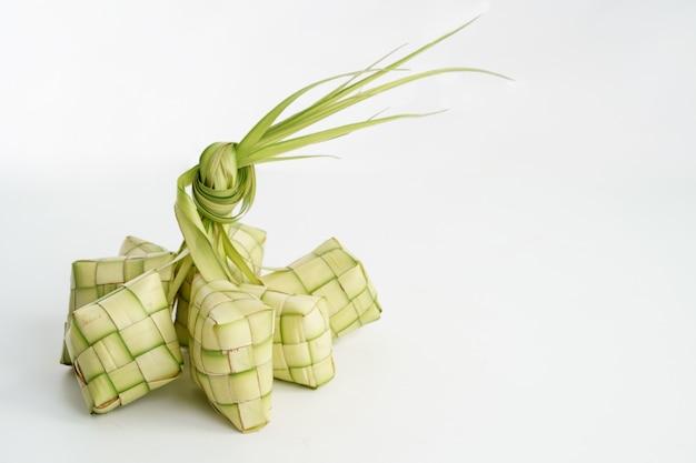 Ketupat over white
