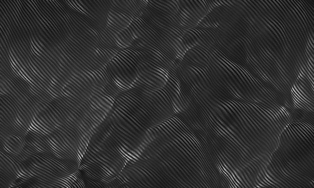 케블라 탄소 섬유 패브릭 질감 배경 3d 렌더링