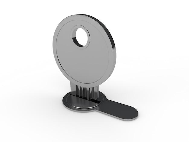 Key in a lock