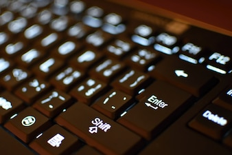 Keyboard in close-up