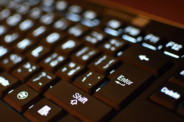 「クローズアップのキーボード」