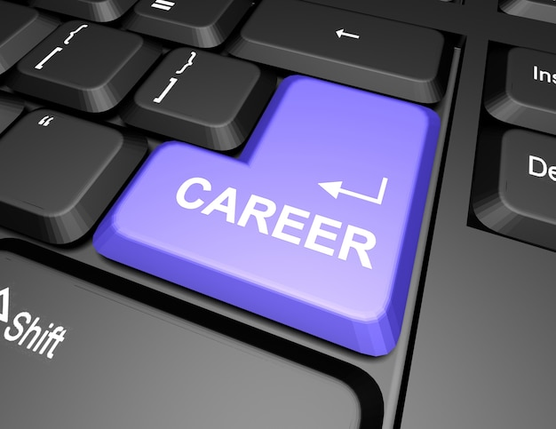 Keyboard with career button