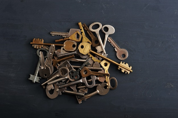 Keys to the locks piled up in a big pile