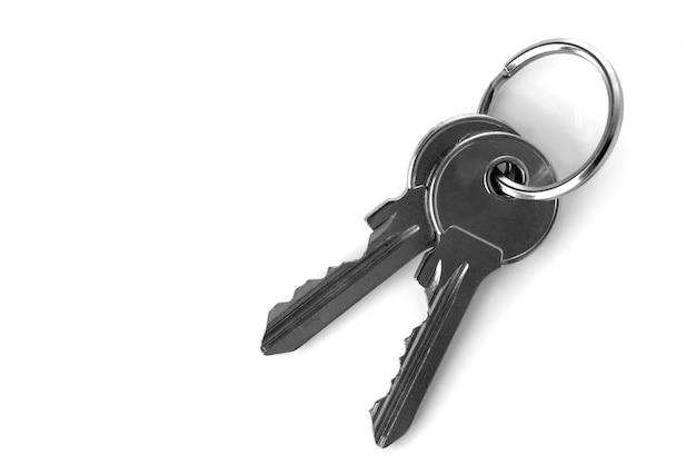 Ключи на белом фоне