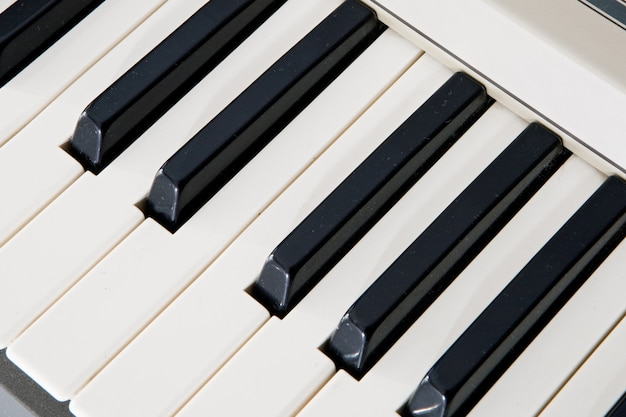 Keys of a piano. that the music sounds!