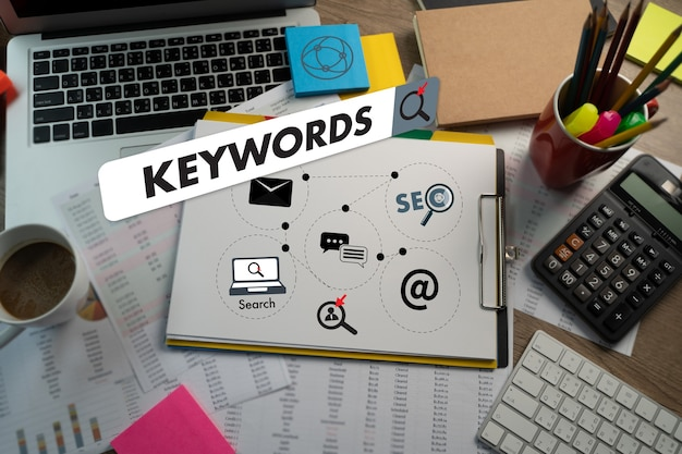 Keywords research communication research, on-page optimization  website