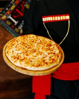 Khachapuri cheese on the table