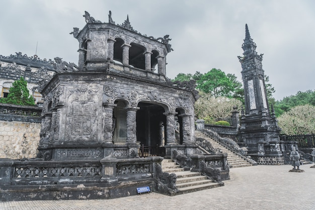 Khai dinh tomb emperor in hue, vietnam. a unesco world heritage site.