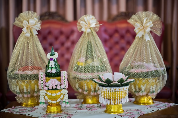 The khan makk procession, thai traditional ceremony, engagement