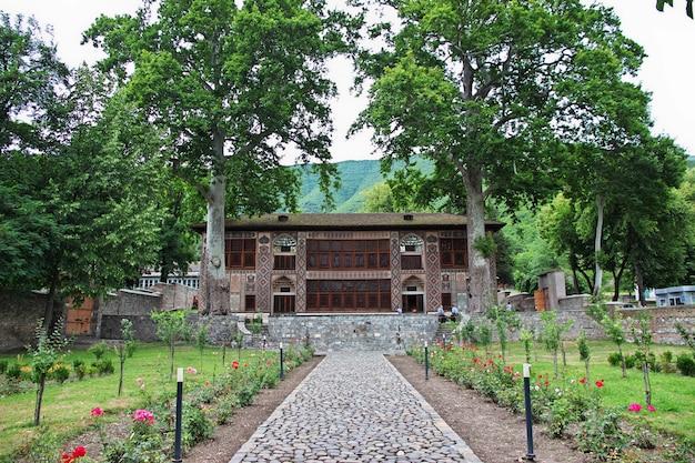 The khan's palace in sheki city, azerbaijan