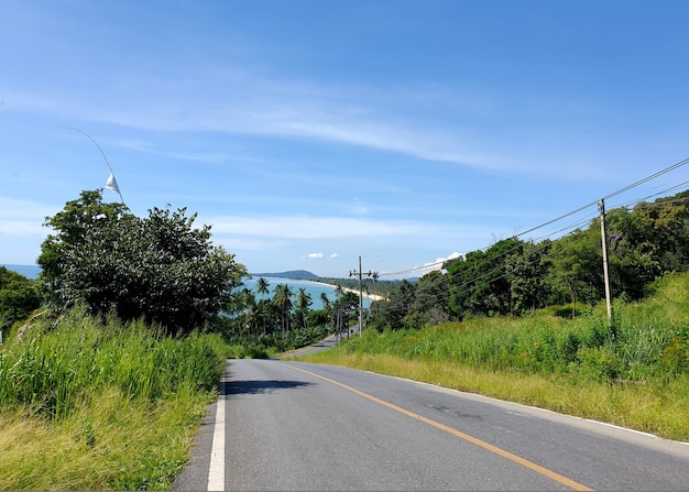 Khanom district is beautiful scenic coastline route along the coast of the gulf of thailand