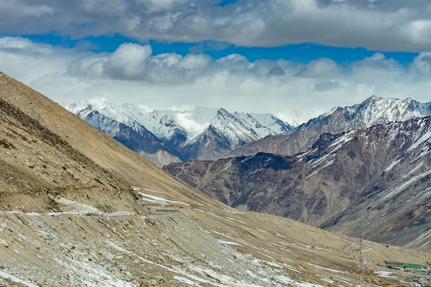 Khardung la pass, india. khardung la is a high mountain pass