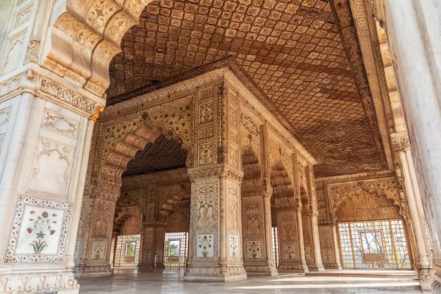 Khas mahal in india, red fort of delhi.