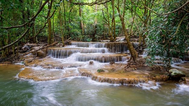 Khayan srinagarindra national park kanchanaburi povinceのhuay mae kaminの滝
