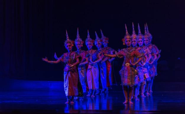 Khon is dance drama of thai classical masked