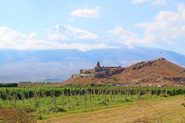 Монастырь хор вирап против горы арарат