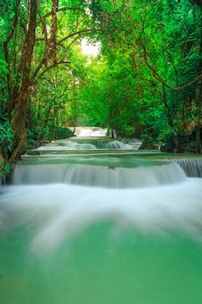 Khuean srinagarindra国立公園のhuay mae kamin滝