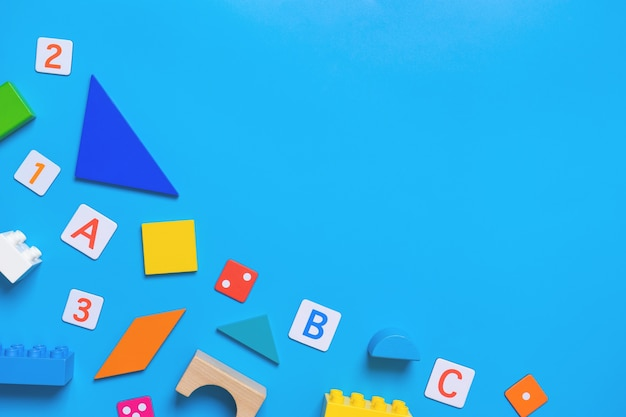 Kid educational toy and stationary for school concept