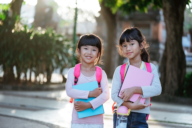 Kid student smiling to camera