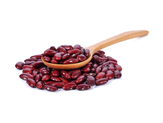 Kidney bean, red bean isolated on white