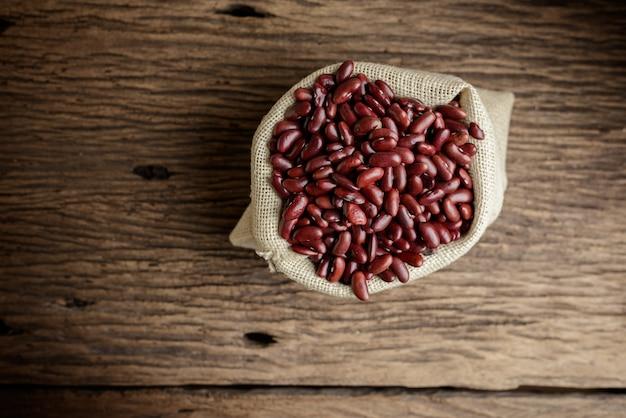 Kidney bean,red beans in sack