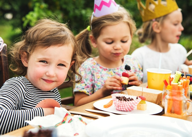 Kids enjoying party in the garden