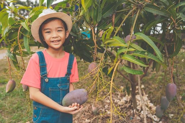 有機栽培の子供たち
