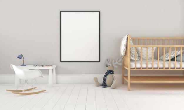 Детская комната, игровой домик, детская мебель с игрушкой и макет каркаса