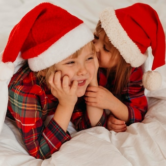 Kids spending time together on christmas day