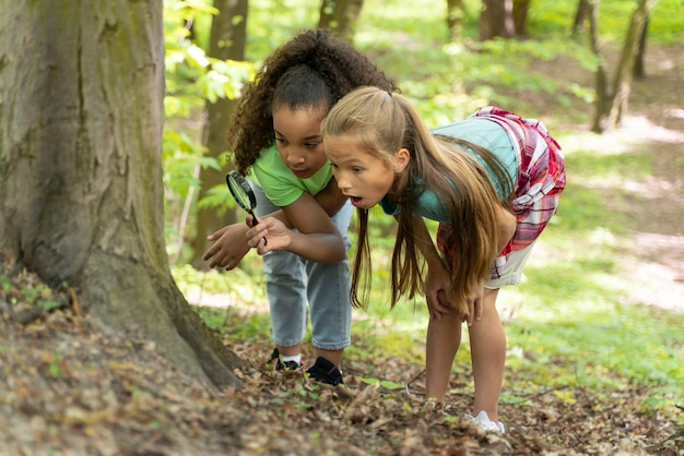 Kids spending time together in the nature