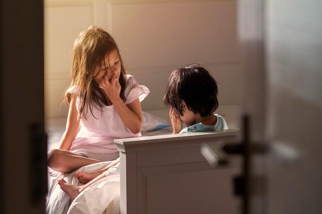 Kids in their bedroom