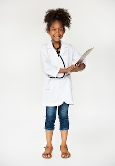 Kids with uniform dream job in the future