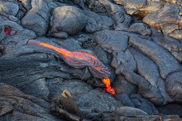 Активный вулкан килауэа на большом острове, гавайи