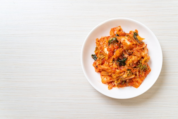 Kimchi cabbage on plate