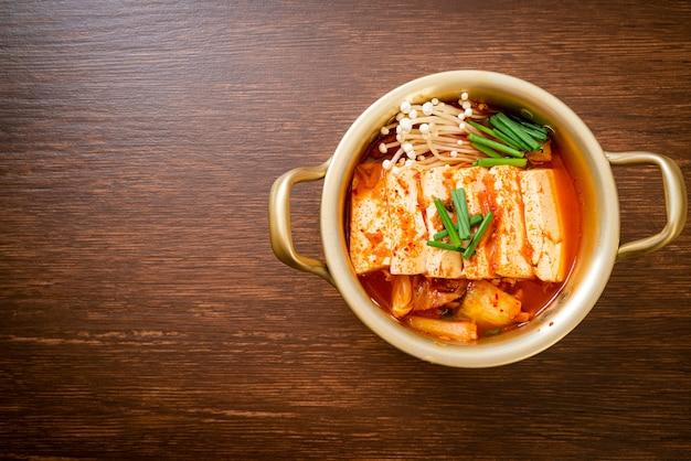 '김치 찌개'또는 연두부 김치국