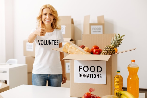 Kind people working for food donation campaigns