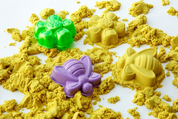 Kinetic sand figures colorful toys early education preparing for school development children game