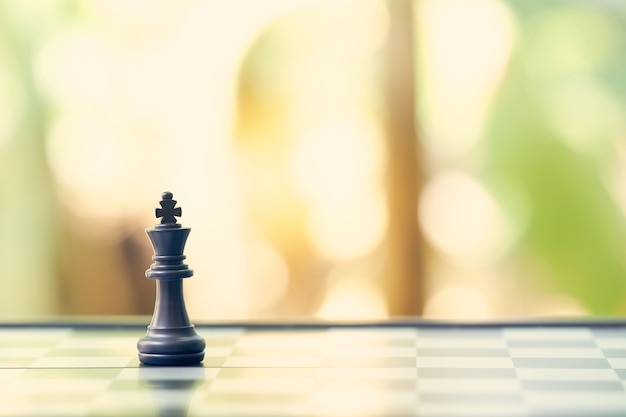 King chess is placed on a chessboard