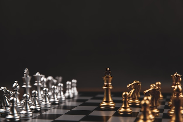 King chess that came out of the line concept of business strategic plan.