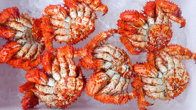 King crabs in the ice box