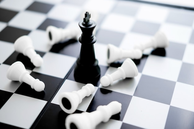 King is checkmated - chess game over concept