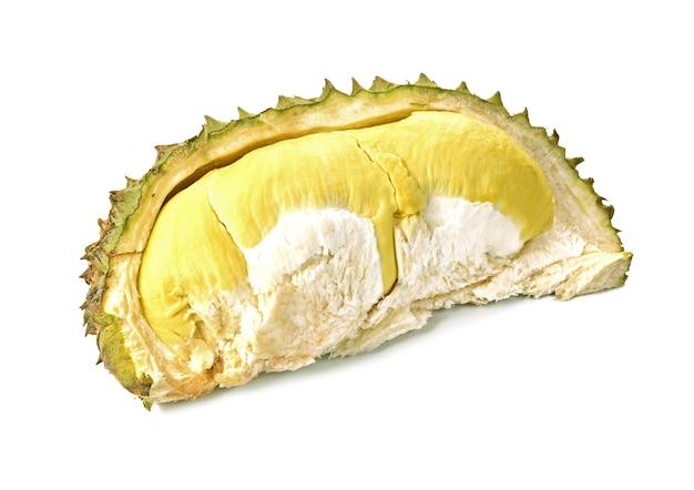 果物の王様、白で隔離されたドリアン