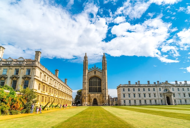 King's college (started in 1446 by henry vi). historical buildings in cambridge, uk.