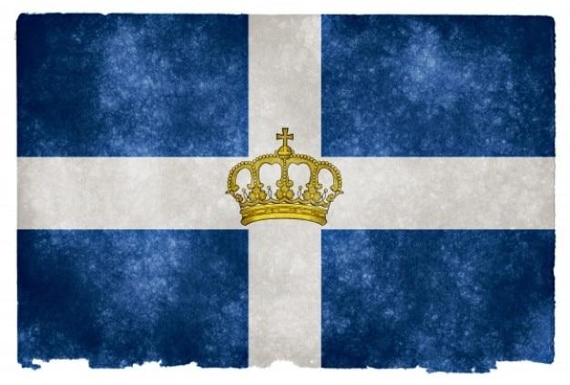 Regno di grecia grunge flag