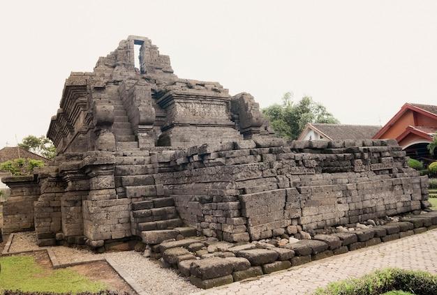 Kingdom singasari relic temple in tumpang village, malang, indonesia