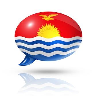 Кирибати флаг речи пузырь