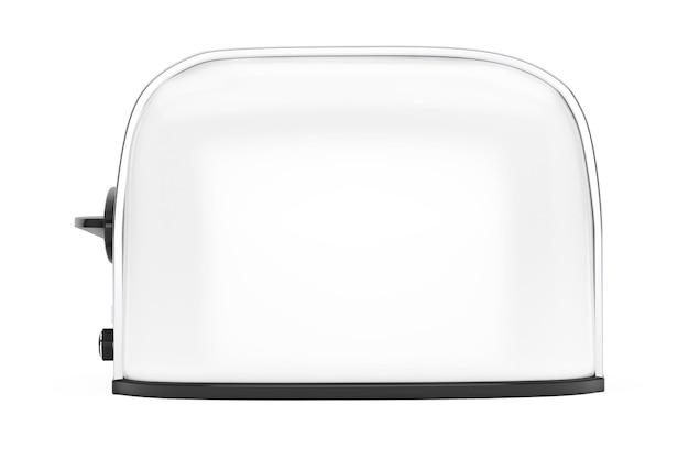 주방가전. 흰색 바탕에 빈티지 화이트 토스터